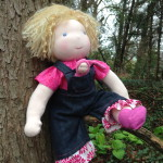 hand-made natural cotton dolls